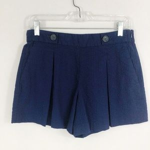 Banana Republic | NWT Navy Pleated Textured Shorts